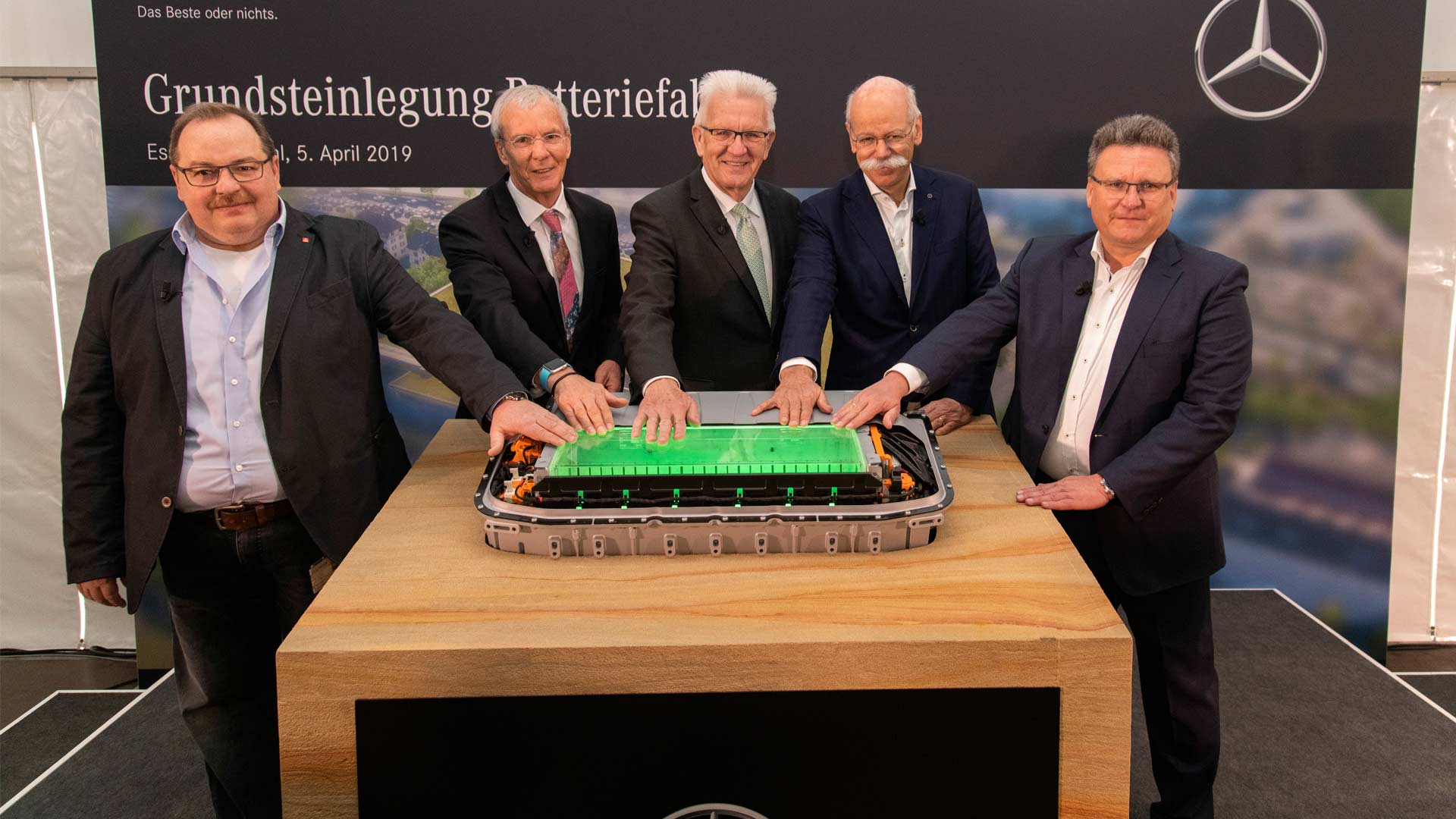 Mercedes-Benz Cars lays foundation for a battery factory at the Untertürkheim site