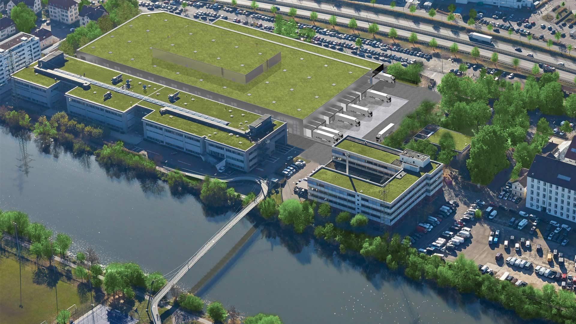 Mercedes-Benz new battery factory at Brühl sub-plant near Stuttgart