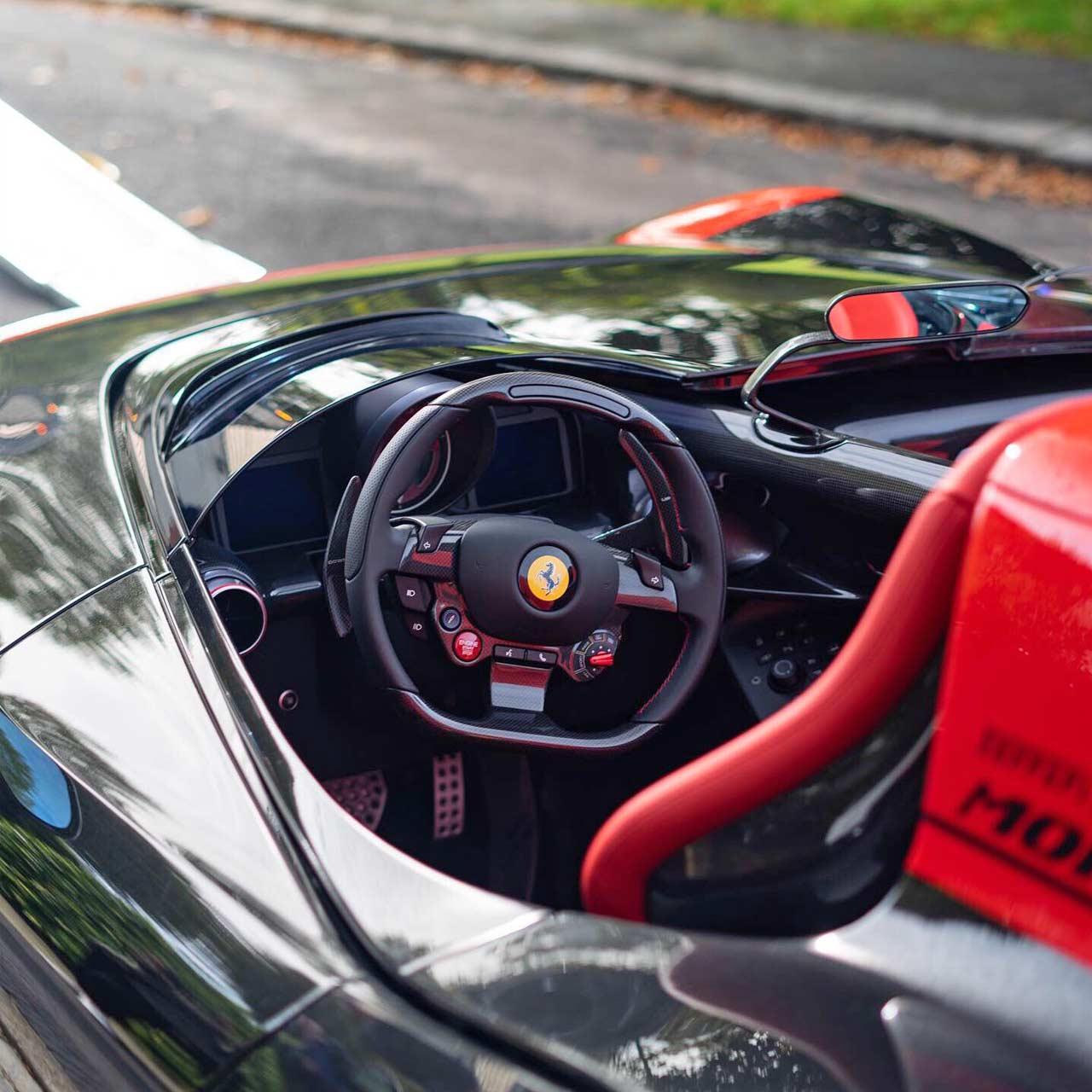 F8 Tributo Interior: Gordon Ramsay's Ferrari Monza SP2 Looks Stunning