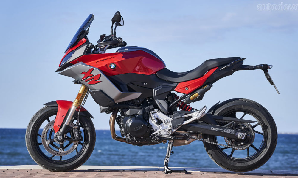 The BMW F 900 R falls under the Roadster category, and the