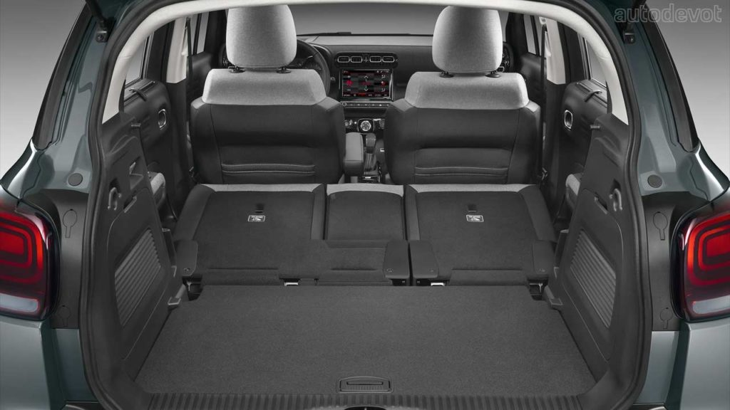 2021-Citroën-C3-Aircross-facelift_interior_luggage_space